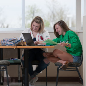 students in study nook.