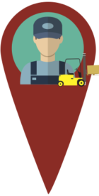 Forklift Worker Icon