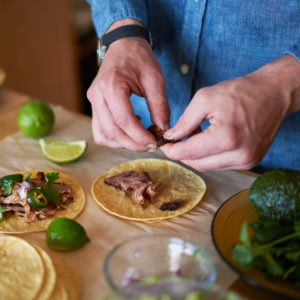 Making Tacos in the Kitchen