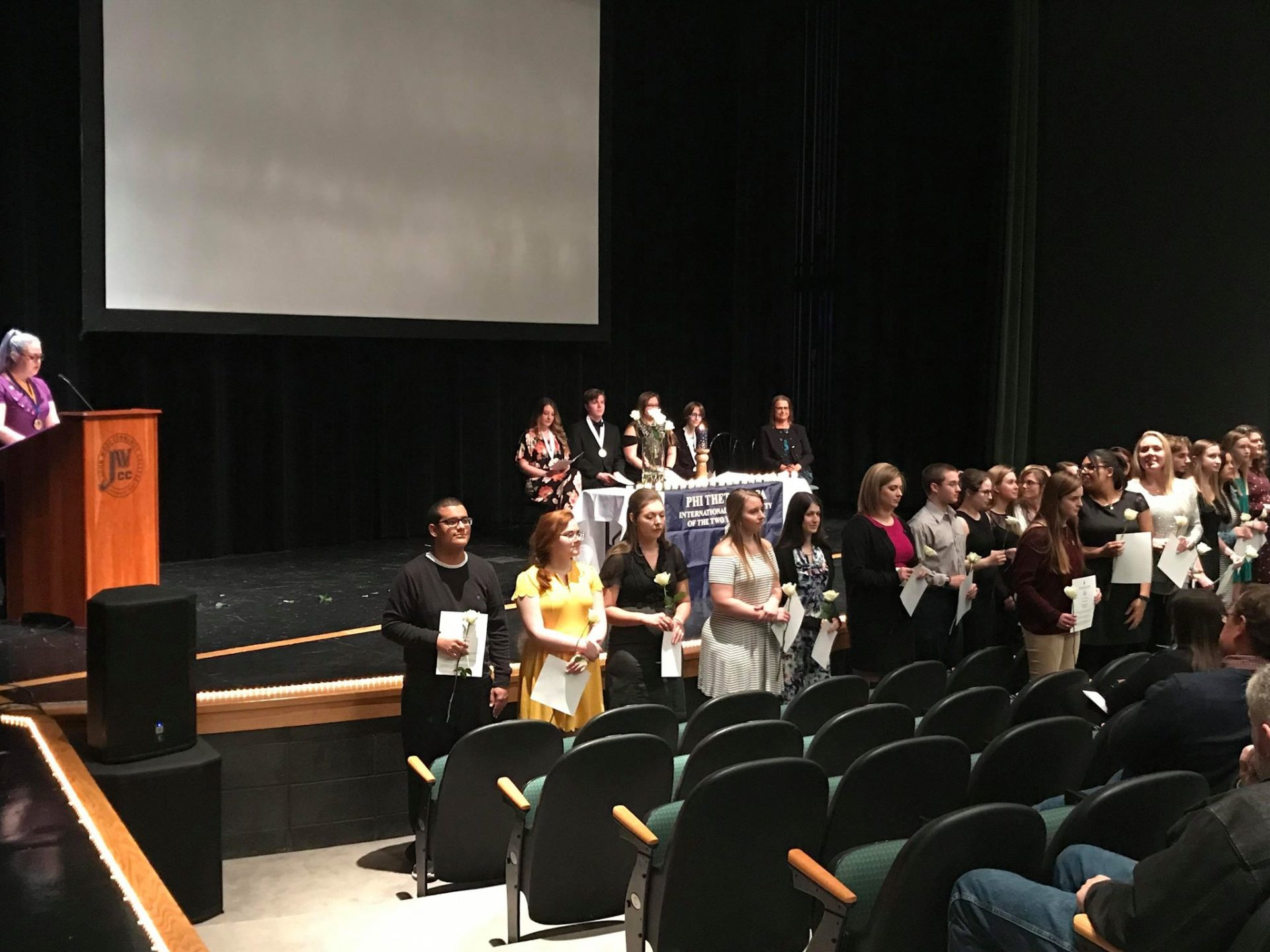 Students receive recognition at PTK induction