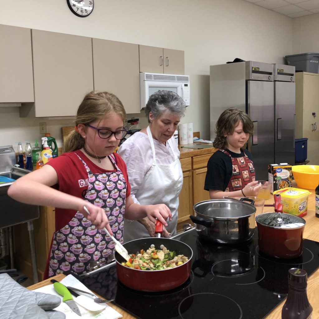 Jdub students cooking