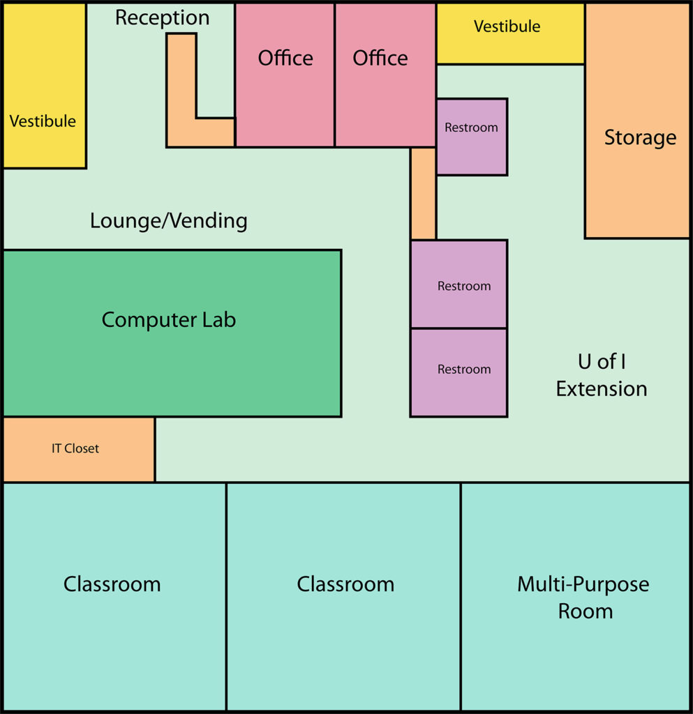Mt. Sterling Education Center floor plan