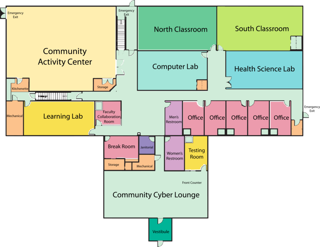 Southeast Education Center floorplan