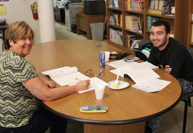 Literacy Tutor with student