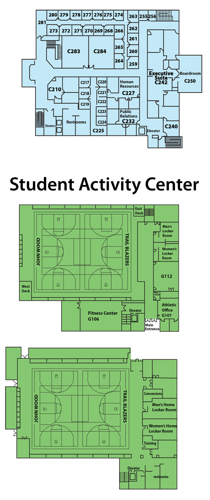 3rd Level; Student Activity Center