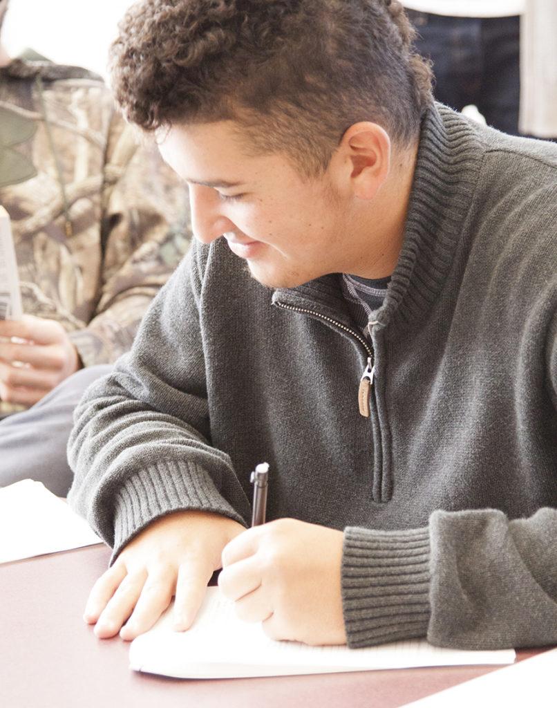 JWCC Student writing