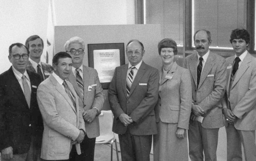 1981 JWCC board members at Ag Center Dedication