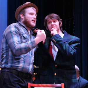 Two students perform at JWCC's theater