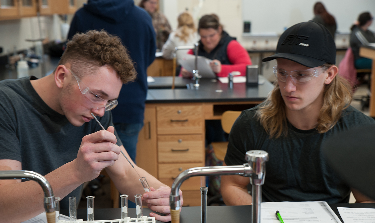 Students with test tube