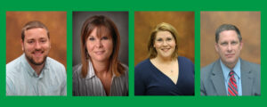 JWCC Employees of the Year. Left to right: Jimmy Behrens, Vicky Nieders, Heather Keller-Giltner & Jeffrey Grott