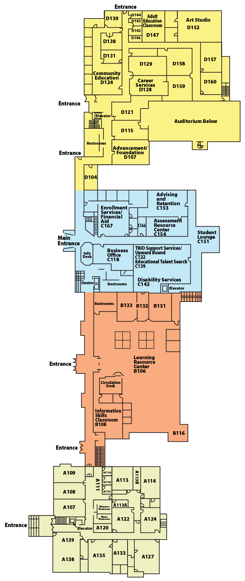 JWCC Campus Map- Main Level