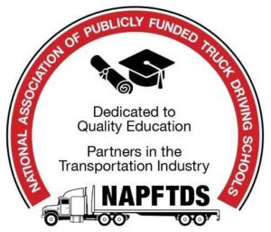 Logo of the National Association of Publicly funded Truck Driving Schools