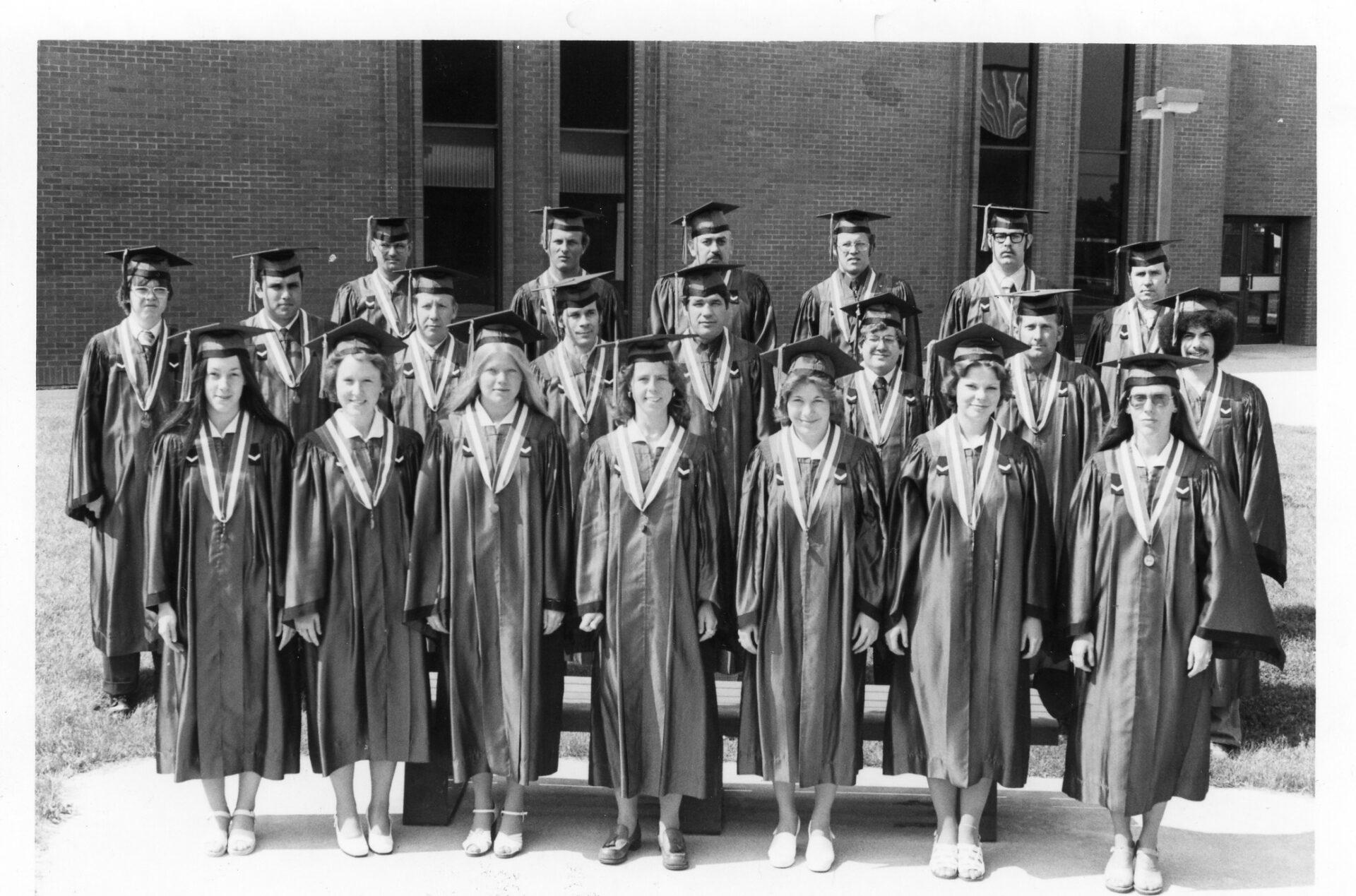 The first graduating class.