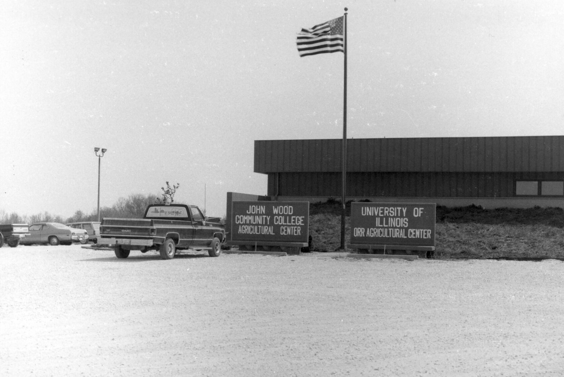Historic photo of the Ag Center in Perry.