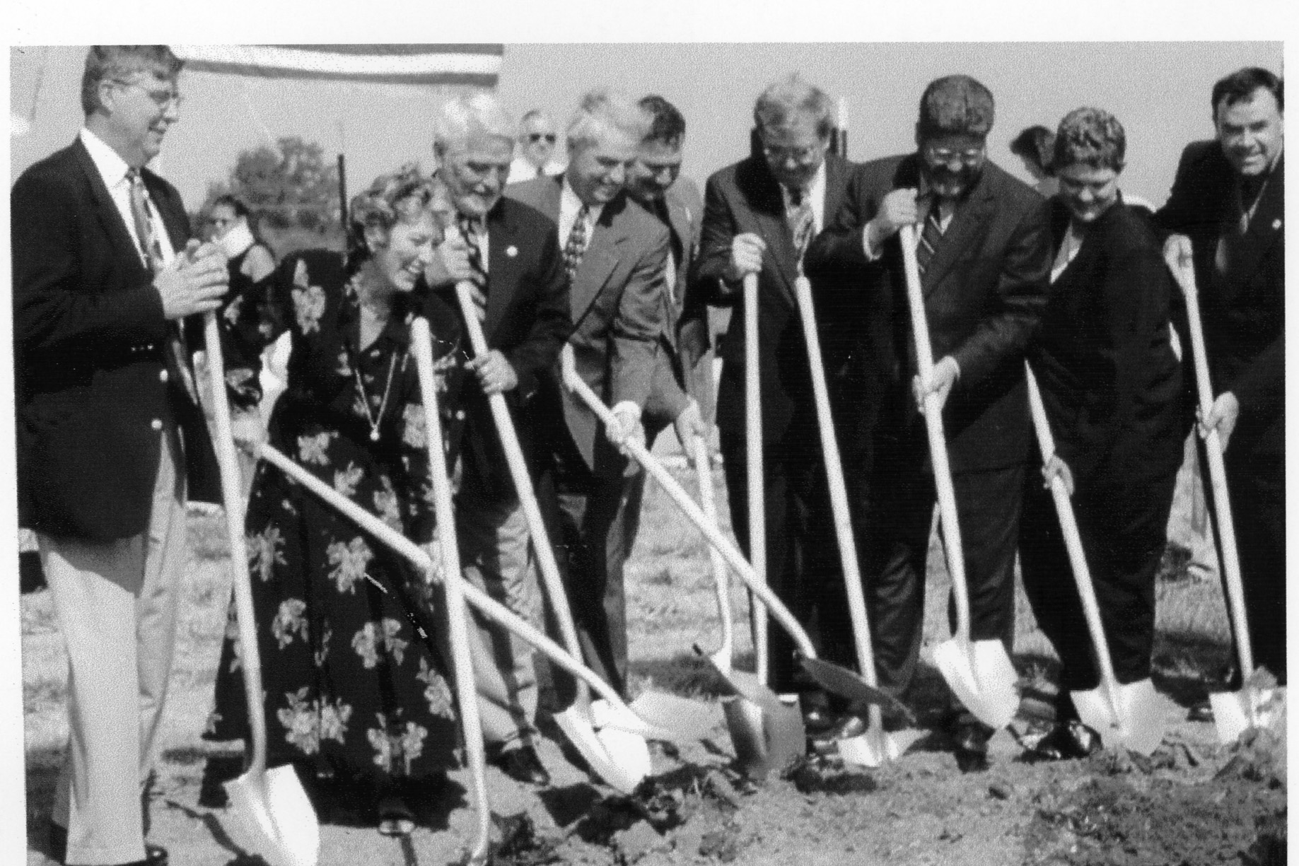 Breaking ground for the Sci Tech Building