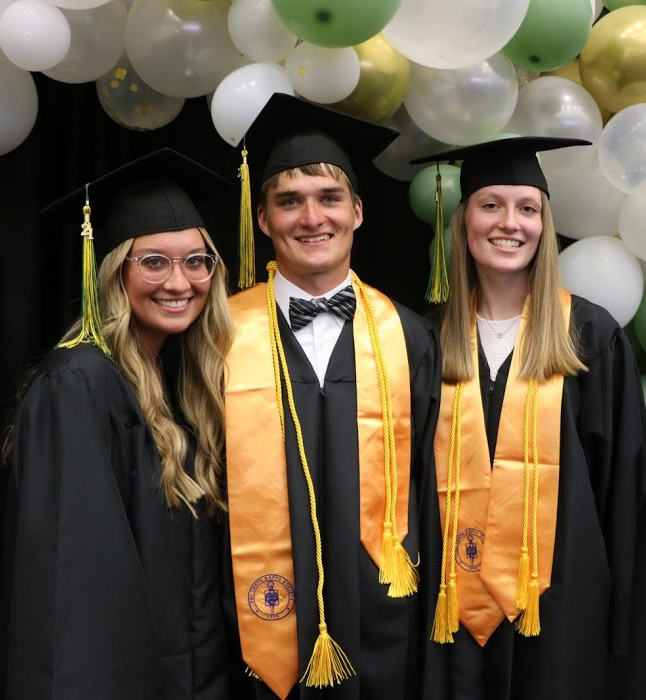 The Smith triplets at their JWCC graduation