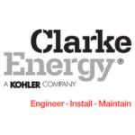 Logo of Clarke Energy, a Kohler company